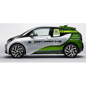 BMW i3 car print for hairdresser