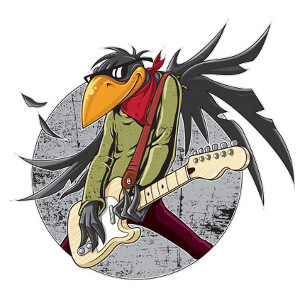 Illustration for rockband Fat Birds