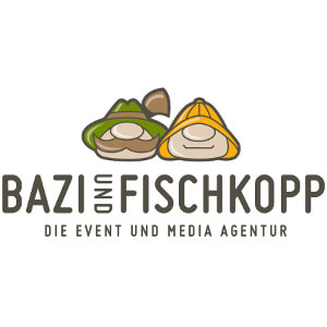 Logo for  events management agency 'Bazi Fischkopp'