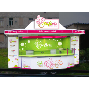 Design for an Ice cream and Frozen Yogurt sales booth