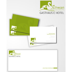 Stationery paper and business cards for family restaurant