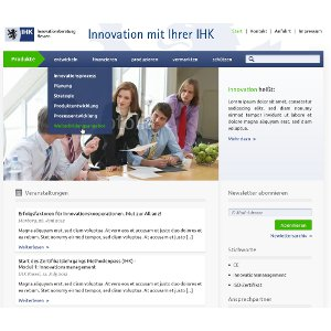 Webdesign for IHK-Innovation Consulting Hessen