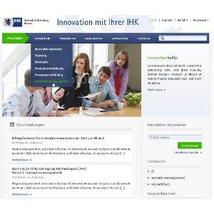 Webdesign for IHK-Innovation Consulting Hessen