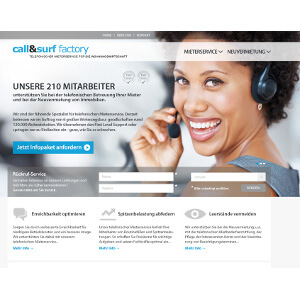 Web design for 'Call and Surf GmbH'