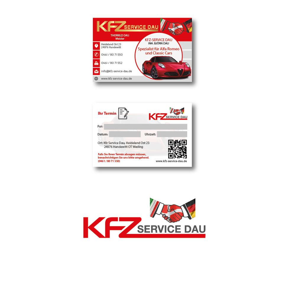 Visitenkarten Design Für Kfz Werkstatt Business Card