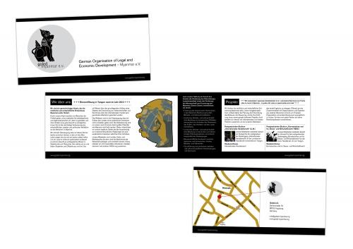 4-seitige Broschüre für gemeinnützigen Verein